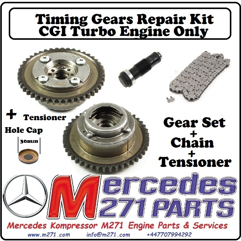 M271CGI TURBO Timing Gears Camshaft Adjusters IN+EXH + Chain Kit ...